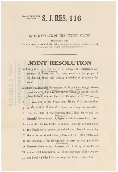 Declaration of war How many times has the US declared war See all 11 declarations
