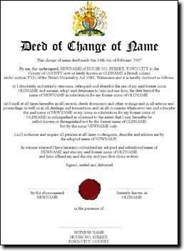 Deed Poll Free Online Change Your Name For