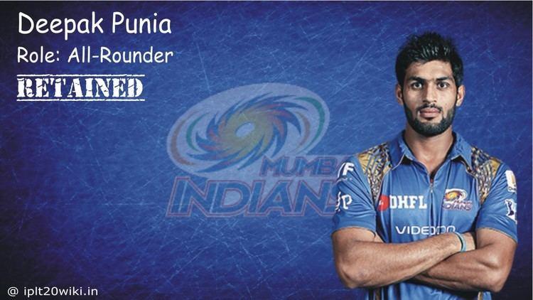 Deepak Punia Deepak Punia Mumbai Indians MI IPL 2017 Player