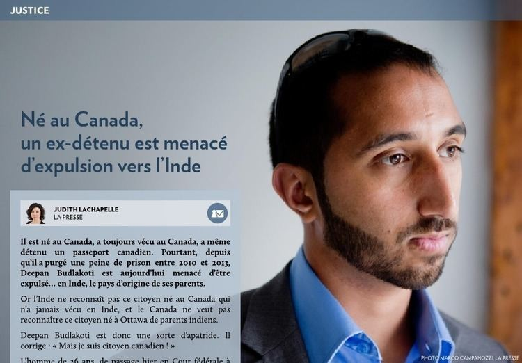 Deepan Budlakoti N au Canada menac dexpulsion vers lInde La Presse
