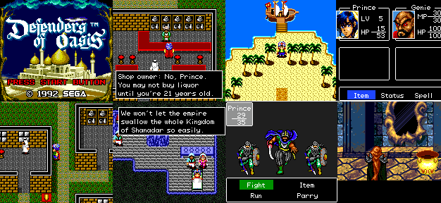 Defenders of Oasis Retro RPG Spotlight Defenders of Oasis That VideoGame Blog