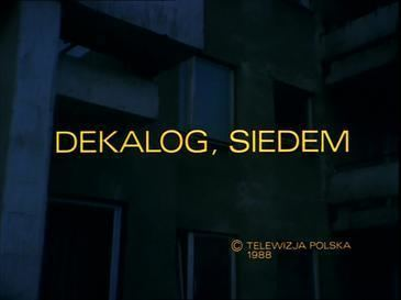 Decalogue VII movie poster