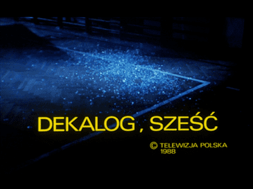 Decalogue VI movie poster