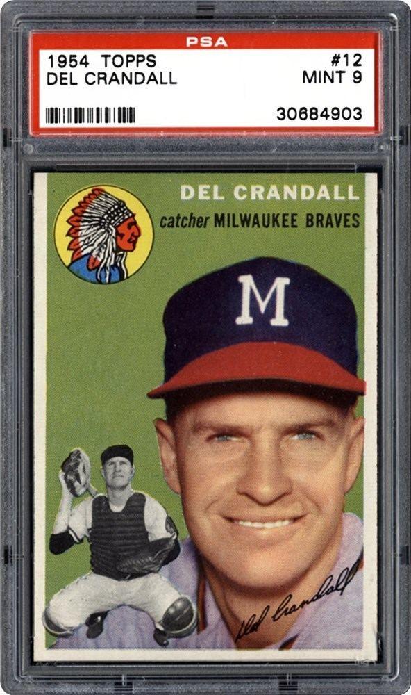 Del Crandall 1954 Topps Del Crandall PSA CardFacts