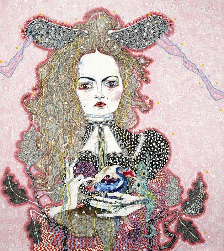 Del Kathryn Barton The Nightingale and the Rose exhibition at ACMI