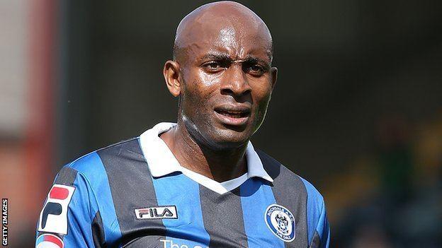 Dele Adebola BBC Sport Rochdale striker Dele Adebola targets unbeaten run