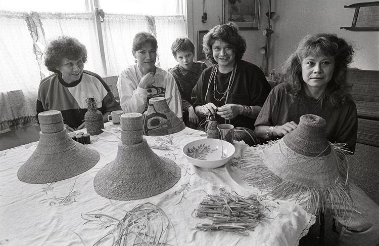 Delores Churchill Evelyn Vanderhoop Weaving Artist About Evelyn weaving artist and