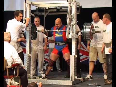 Delroy McQueen Delroy McQueen 420 440kg squat BPC british champs 2007 YouTube