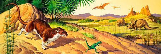 Deltatheridium Deltatheridium Pteranodon and Triceratops Look and Learn History
