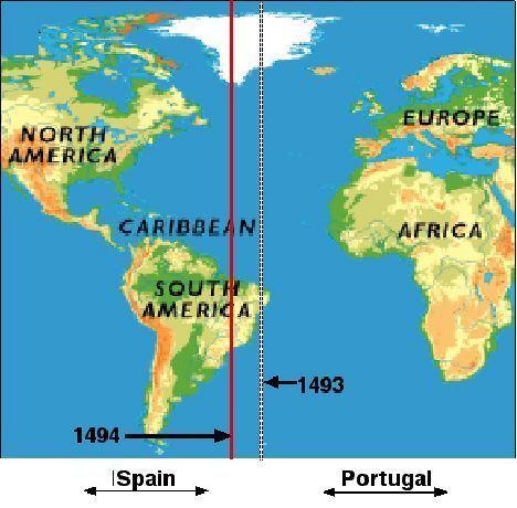 Demarcation line Portuguese Exploration