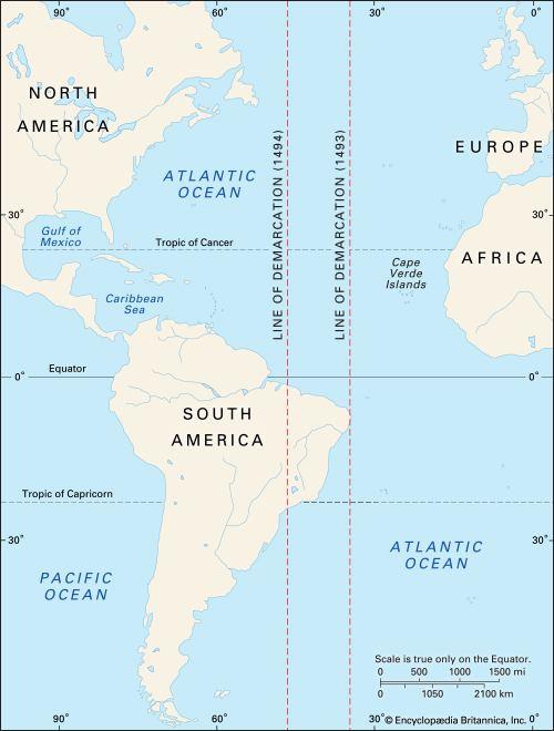 Demarcation line Line of Demarcation location Kids Encyclopedia Children39s