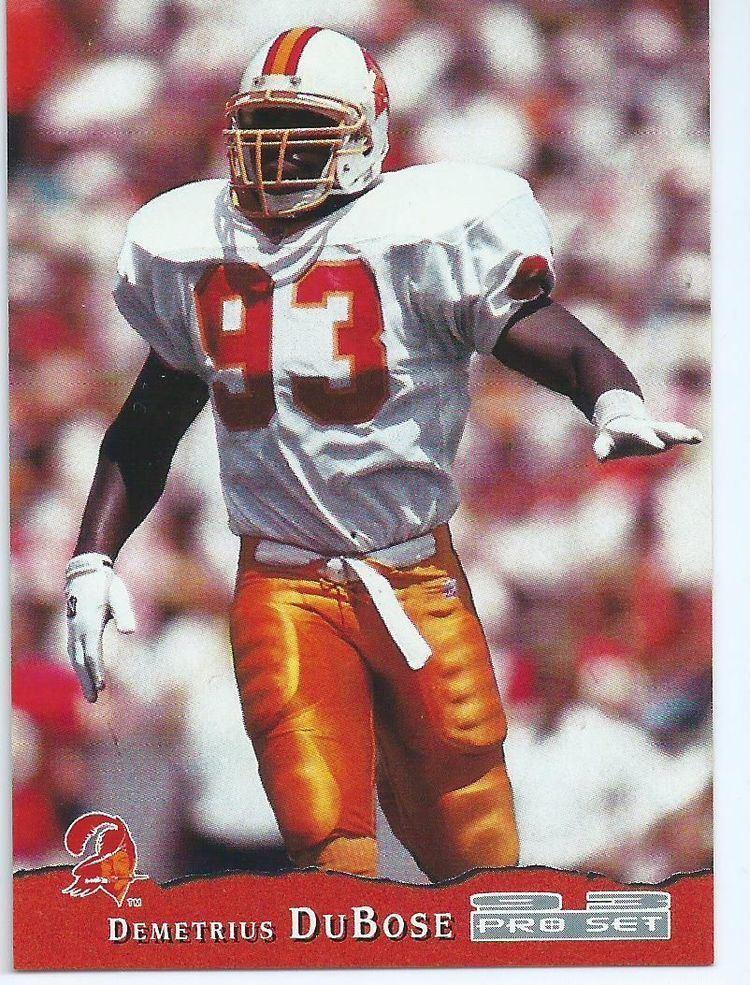 Demetrius DuBose TAMPA BAY BUCCANEERS Demetrius DuBose 429 Rookie Card Pro Set 1993