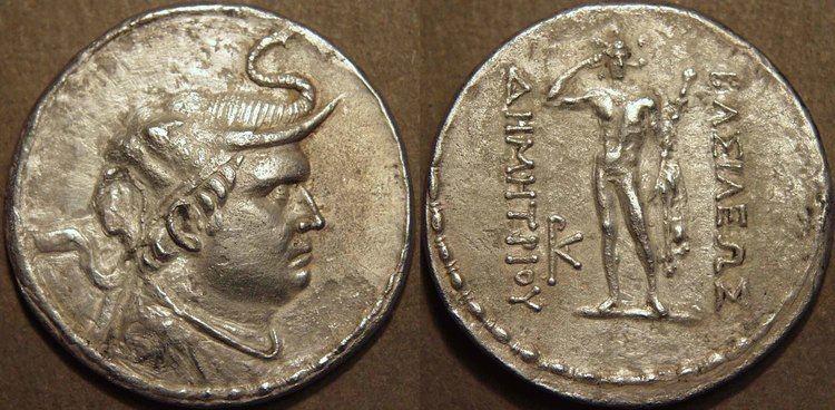 Demetrius I of Bactria The COININDIA Coin Galleries Greek Demetrios I Demetrius I