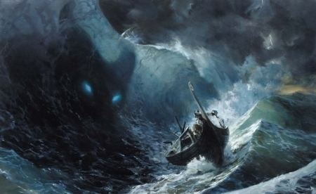 Demon of the Sea Demon of the sea Fantasy Abstract Background Wallpapers on