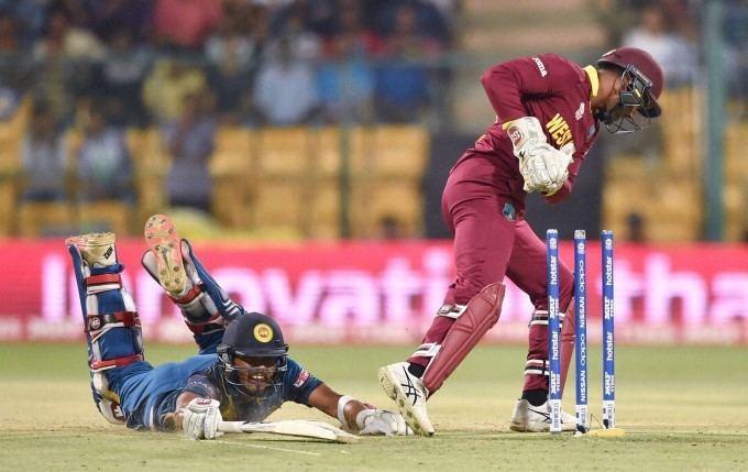 West Indies Wicket Keeper Denesh Ramdin Runs Out Dinesh Chandimal Of
