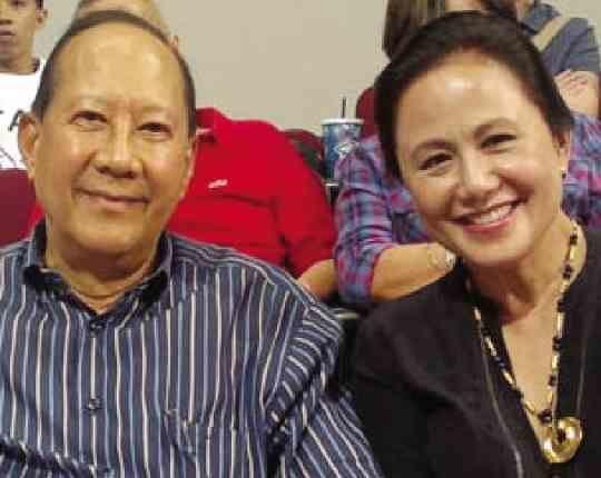 """Denise Cojuangco with her husband Antonio """"Tony Boy"""" Cojuangco"""