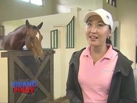 Denise Cojuangco in horse shed
