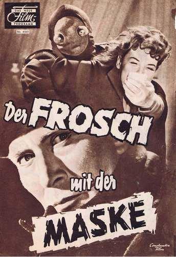 Der Frosch mit der Maske FILMPROGRAMM Der Frosch mit der Maske Deutschland 1959 Bcher