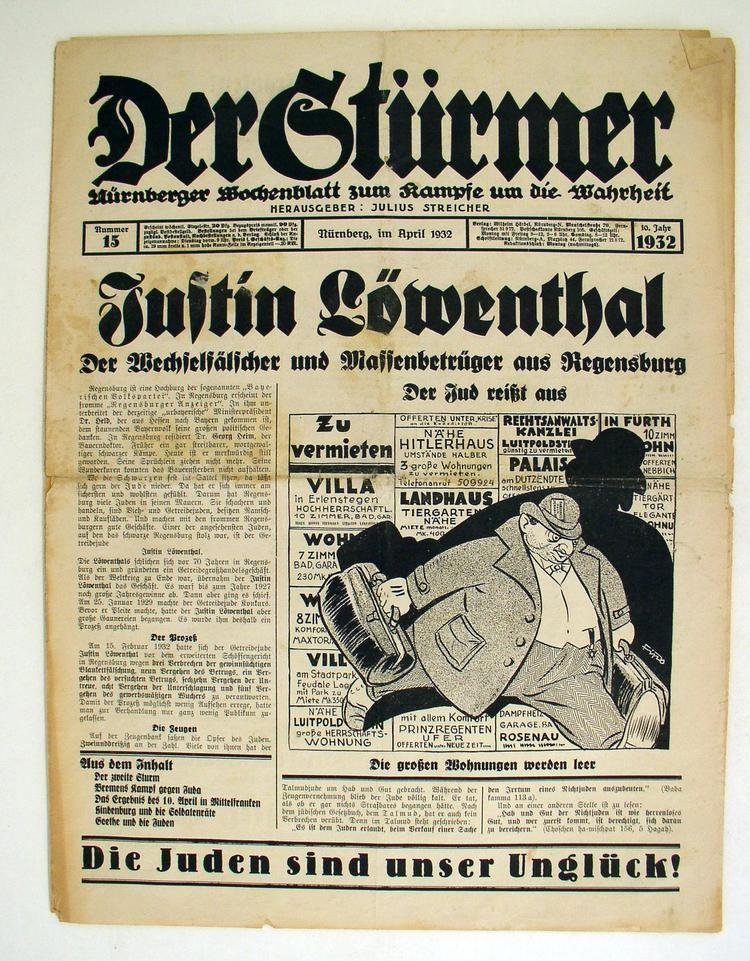Der Stürmer LeMO Kapitel NSRegime Ausgrenzung Und Verfolgung Die Zeitung