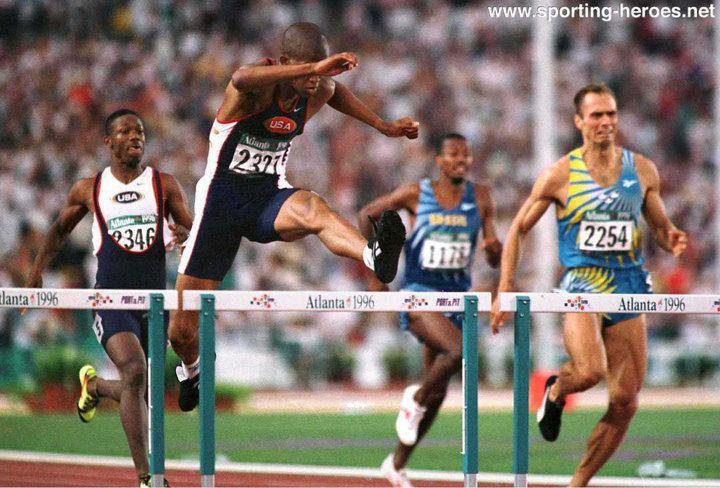 Derrick Adkins Derrick ADKINS Olympic and World 400m Hurdles Champion USA
