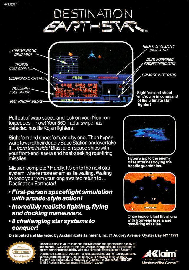 Destination Earthstar Destination Earthstar Box Shot for NES GameFAQs