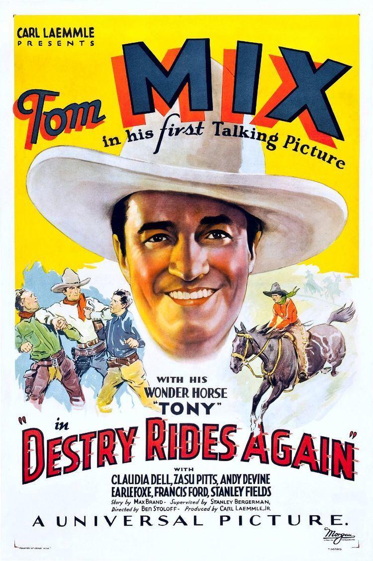 Destry Rides Again (1932 film) httpsuploadwikimediaorgwikipediacommonsthu