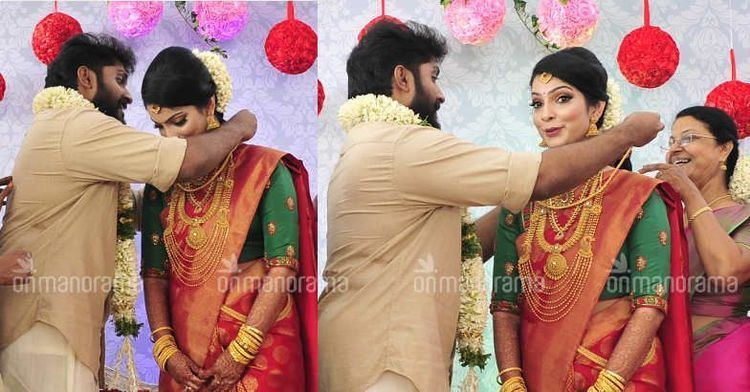 Dhyan Sreenivasan Dhyan and Arpita tied the knot after a 10year courtship Pix
