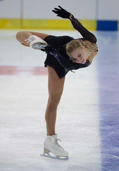 Diana Pervushkina Diana Pervushkina of Russia skates during the junior ladies short