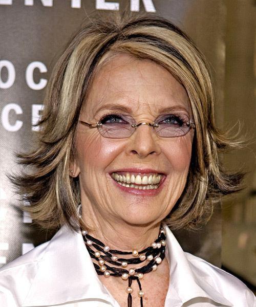 Diane Keaton Diane Keaton Medium Straight Casual Hairstyle