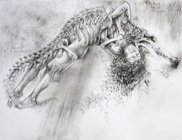 Diane Victor DianeCrocodileskeletonjpg