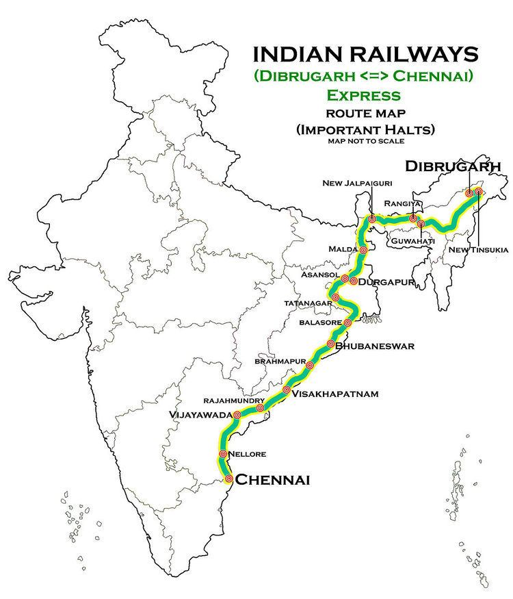 Dibrugarh - Chennai Egmore Express