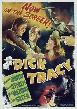 Dick Tracy (1945 film) movie poster