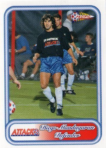Diego Mandagaran KANSAS CITY ATTACK Diego Mandagaran 80 PACIFIC 1993 NPSL Football