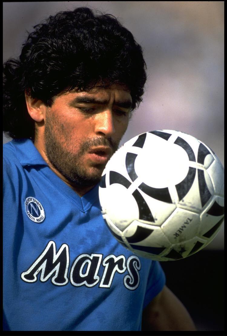 Diego Maradona Classic Football Kits Napolis Mars shirt from the Diego Maradona