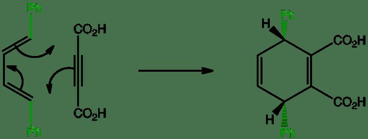 Diene DielsAlder EE diene Stereochemistry of a phenyl diene is loaded