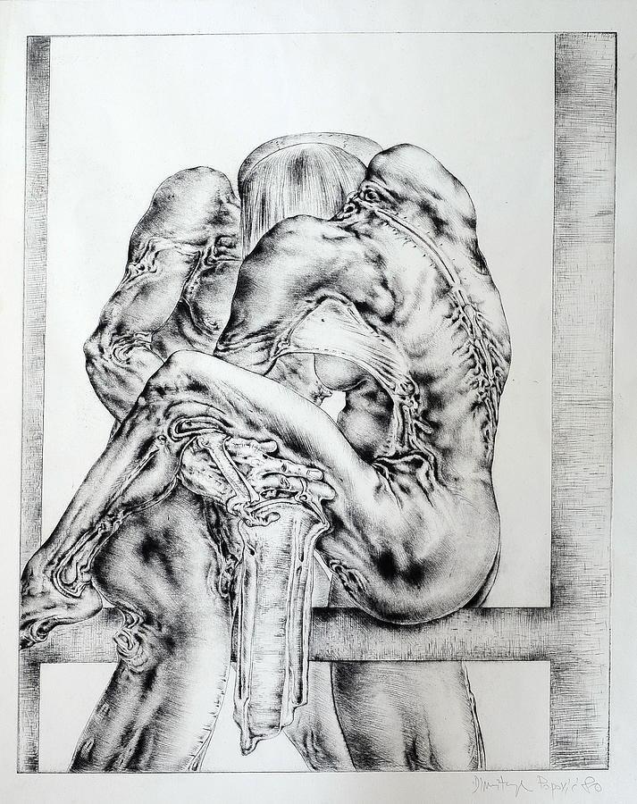 Dimitrije Popović Men And Woman Painting by Dimitrije Popovic