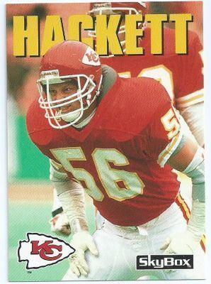 Dino Hackett KANSAS CITY CHIEFS Dino Hackett 142 SKYBOX Impact 1992 NFL