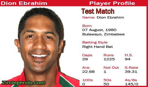 Dion Ebrahim (Cricketer)