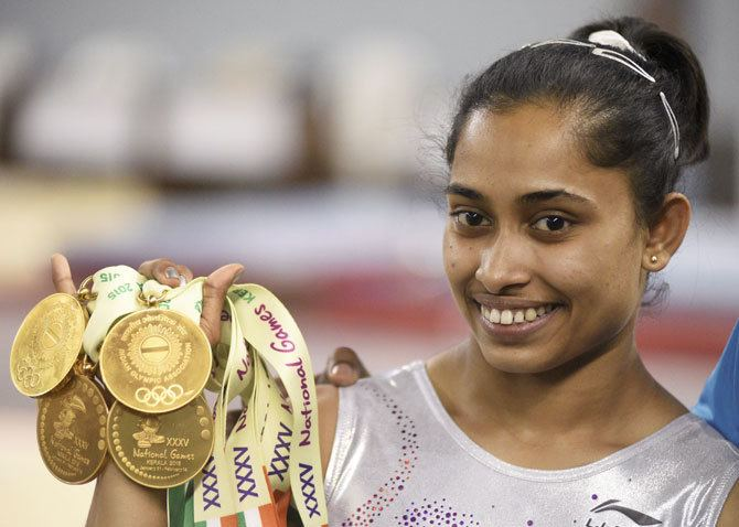 Dipa Karmakar National Games Gymnast Dipa Karmakar wins five gold