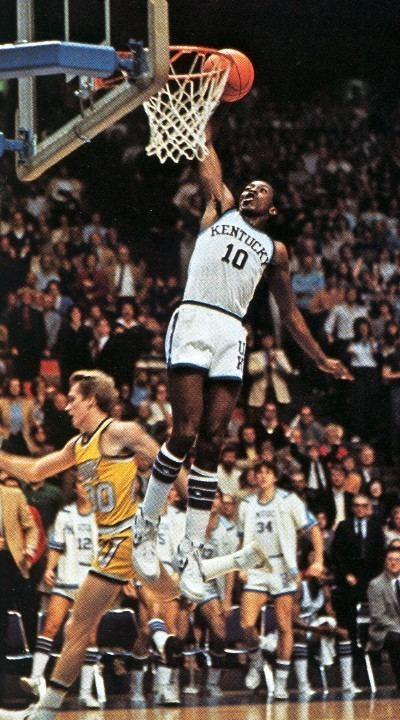 Dirk Minniefield Vanderbilt at Kentucky January 23 1982