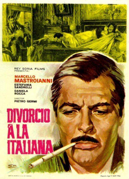 Divorce Italian Style Poster for Divorce Italian Style 1961 Starring Marcello