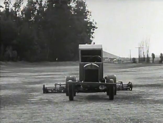 Divot Diggers Mystery tractor in Divot Diggers 1936 Our Gang short film
