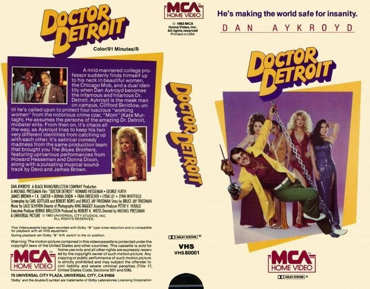 Doctor Detroit movie scenes Doctor Detroit released in 1983 is the story of Clifford Skridlow Dan Akroyd a college professor who has a chance encounter with several ladies of the