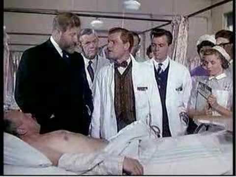 Doctor in the House movie scenes Sir Lancelott Spratt James Robertson Justice