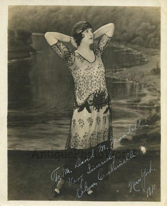 Dolores Cassinelli Dolores Cassinelli silent film actress antique hand signed