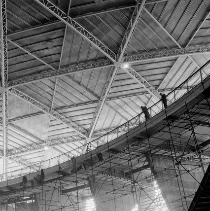 Dome of Discovery Construction of the Dome of Discovery for the Festival of Britain by