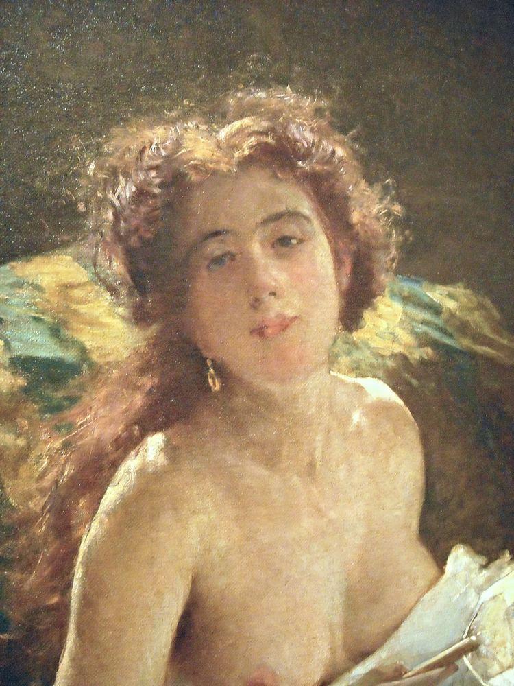 Domenico Morelli Lady with a Fanquot 1873 by Domenico Morelli Naples 1826