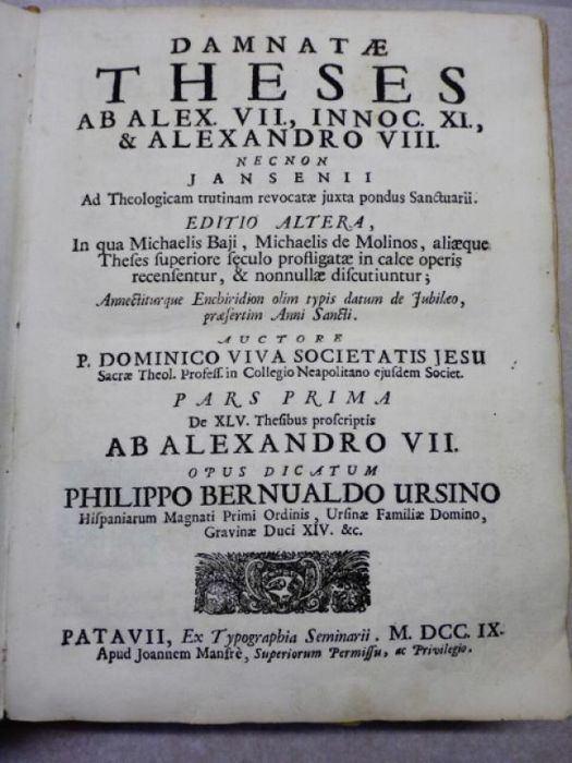 Domenico Viva Domenico Viva Damnat theses ab Alex VII Innoc XI