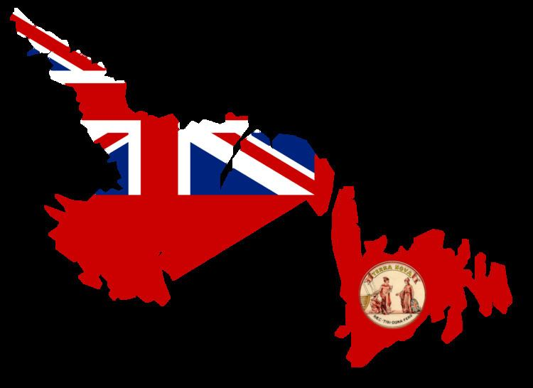 Dominion of Newfoundland FileFlag Map of the Dominion of Newfoundland 1907 1949png