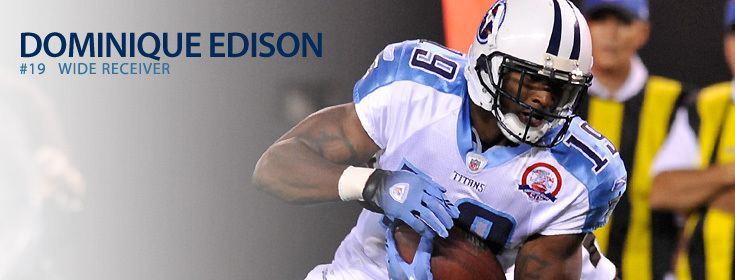 Dominique Edison Tennessee Titans Dominique Edison